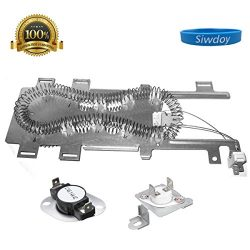Siwdoy 8544771 Dryer Heating Element and 279973 Thermal Cut-Off Fuse & Thermostat Kit for Wh ...