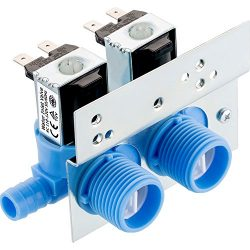 Maxdot 1 Piece 285805 Water Inlet Valve with Mounting Bracket for Clothes Washer 110 VAC/120 VAC ...