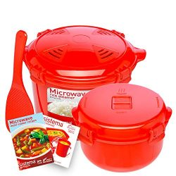Sistema Microwave Cookware Rice Steamer Set with Lids — Large Microwave Multicooker, Side  ...