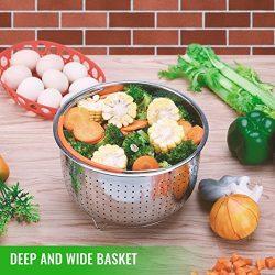 Cooker Steamer Basket for 6 or 8 Quart Instant Pot Pressure Cooker for Egg, Meat, Vegatables, Ki ...