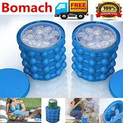 Bomach Ice Cube Maker Genie,Revolutionary Space Saving Ice Ball Maker Bucket Party Drink Tub Sil ...
