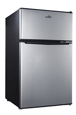 Willz WLR31TS1 3.1 cu.ft. Refrigerator Dual Door True Freezer, Stainless Steel