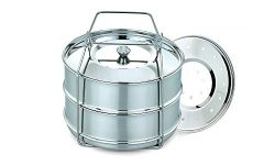 ImperiaLot Stainless Pressure Cooker Insert Pans Set-Stackable Cooking Accessories For Your Inst ...