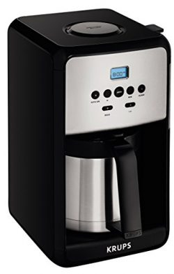 KRUPS ET351 SAVOY Programmable Thermal Stainless Steel Filter Coffee Maker Machine with Bold and ...