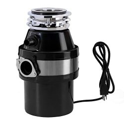 Garbage Disposals-KUPPET 1.0 HP 2600 RPM Large Capacity Continuous Feed Waste Disposal With Plug ...