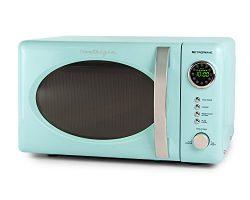 Nostalgia RMO7AQ Retro 0.7 Cubic Foot Microwave Oven – Aqua Blue