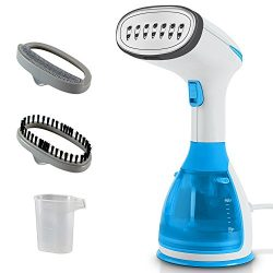WeyTy Garment Steamer Handheld Fabric Steamer 15 Seconds Fast Steaming 280ml Removable Water Tan ...