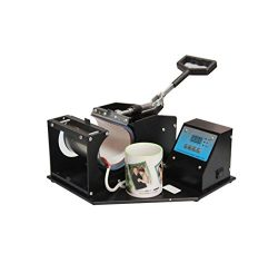 Vinmax Mini Dual Digital Display Heat Press Transfer Sublimation Machine for Cup Coffee Mug