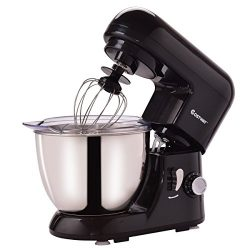 Costway Tilt-head Stand Mixer 4.3Qt 6-Speed 120V/550W Electric Food Mixer w/ Stainless Steel Bow ...