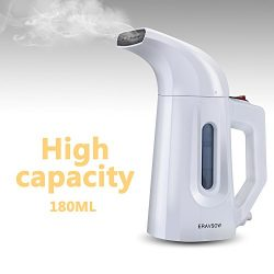 ERAVSOW Garment Steamer For Clothes, 180ml Portable HandHeld Fabric Steamers, Ultrafast Heat-up  ...