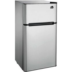 Igloo FR459 2 Door Refrigerator/Freezer, Platinum, 4.5 cu. ft.