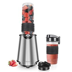 CHULUX Smoothie Blender with Take Along Travel Bottles (20+14 Oz),Personal Blender Stainless Ste ...
