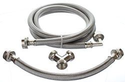Premium Steam-Dryer Installation Kit – Braided Stainless Steel, 6 ft