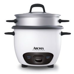 Aroma Housewares 6-Cup (Cooked) (3-Cup UNCOOKED) Pot Style Rice Cooker and Food Steamer (ARC-743 ...