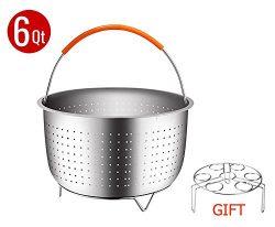 YHTlaeh Instant Pot Steamer Basket Egg Racks For Pressure Cooker/Rice Cooker/Common Soup Pot(6 o ...