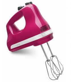 KitchenAid KHM512CB Hand Mixer, Cranberry, 1