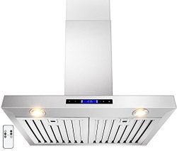 GOLDEN VANTAGE 30″ Wall Mount Stainless Steel Range Hood With Gas Sensor & Remote GV-Z ...