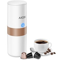 Aicok Portable Coffee Maker, Mini Electric Espresso Machine with Reusable K-cup Coffee Filter (G ...