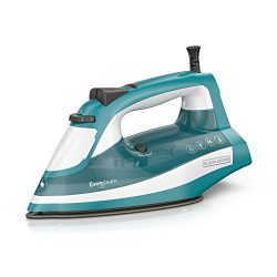 BLACK+DECKER IR16X One-Step Garment Steam Iron with Stainless Nonstick Soleplate, One Size, Turq ...