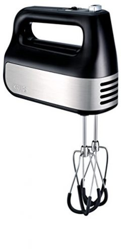 KRUPS GN4928 Quiet 10 Speed Hand Mixer with Turbo Boost Stainless Steel Accessories and Count Do ...
