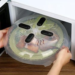 Microwave Essentials Magnetic Microwave Cover Splatter Guard and Vents for Small and Large Kitch ...