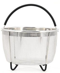 TOPOKO Stainless Steel Mesh Steamer Basket, 5/6 QT Instant Pot Accessories – Fits InstaPot ...