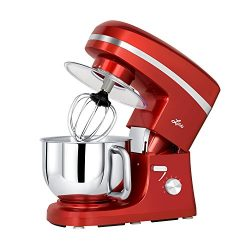 Litchi Stand Mixer, 5.5 Qt. Kitchen Mixer, 650W 6 Speed Tilt-Head Stand Mixers with Splash Guard ...