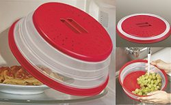 Microwave Collapsible Food Cover (Red)