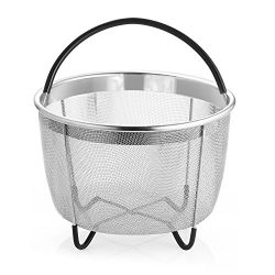 UMIGO Steamer Basket for 6 qt Instant Pot Stainless Steel Pressure Cooker Accessories Strainer a ...