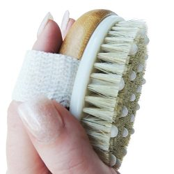 Anti Cellulite Exfoliating Brush. Dry Brushing Home Treatment for Reducing and Preventing The Ap ...