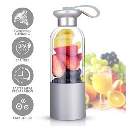 Personal Size Blender – Portable Personal Blender with Powerful Motor, Fruit Smoothies/Healthy D ...