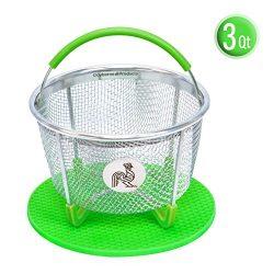 Instant Pot Accessories Insert 3 Quart vegetable Steamer Basket (6qt 8qt), Fits InstaPot Pressur ...