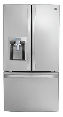 Kenmore Smart 75043 24 cu. ft. French Door Bottom-Mount Refrigerator in Stainless Steel –  ...
