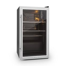 Klarstein Beersafe XXL • Cooler • Double Insulated Glass Doors • 3 removable Shelves • 2,9 cft c ...
