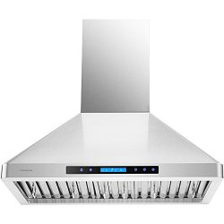 CAVALIERE AP238-PS-29-30 Wall Mounted Stainless Steel Kitchen Range Hood with Remote Control