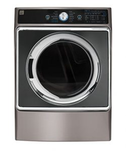 Kenmore Elite 81963 9.0 cu. ft. Front Control Electric Dryer with Accela Steam in Metallic Silve ...