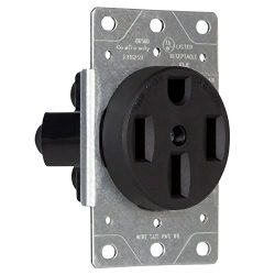 Enerlites 50 Amp Power Receptacle Dryer Outlet 66500 | NEMA 14-50R, for EV, RV, Dryers, Welders, ...