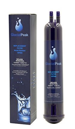 Glacial Peak Refrigerator water Filter Compatible with WhirlpoolandKenmore Series Fridge 4396841 ...