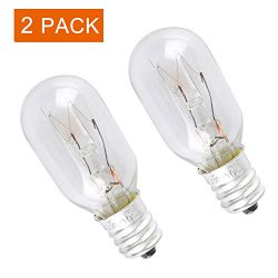 WE4M305 Dryer Light Bulb for General Electric/GE 120v 10watt (2 pack)