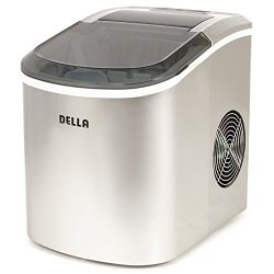 Della Portable Ice Maker w/Easy-Touch, 2-Selectable Cube Sizes, Yield Up To 26 Pounds of Ice Dai ...