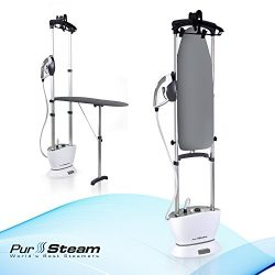 PurSteam Dual-Pro Iron & Pressurized Garment Steamer with – Professional Heavy Duty 16 ...