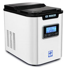 MRP US Portable Ice Maker IC703 With 3 Selectable Cube Size and Timer(White) for Home, Offices,  ...