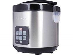 Tayama TRC-50H1 Digital Rice Cooker & Food Steamer, 10 Cup, Black