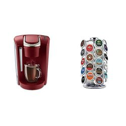 Keurig K-Select Coffee Maker, Red and K-Cup Pod Carousel Coffee Machine Accessory, 36 Count, Chrome