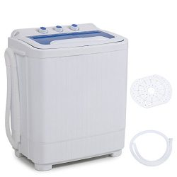 DELLA Mini Electric Washing Machine Home Twin Tub 8.8LBS Portable Compact Washer & Spin Dry  ...