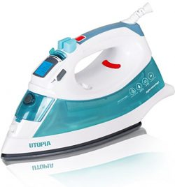 Utopia Home Digital Steam Iron with Nonstick Soleplate – Light Weight – Powerful Ste ...