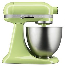 KitchenAid KSM3311XHW Artisan Mini Series Tilt-Head Stand Mixer, 3.5 quart, Honeydew
