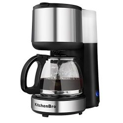 Coffee Maker 4 Cup Stainless Steel with Warming Plate (silver)