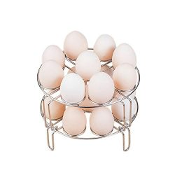 Msliy 2 Pcs Egg Steamer Rack Stackable Egg Pressure Cooker Food Vegestible Basket Stand Multi 18 ...
