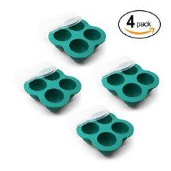 Silicone Egg Bite Molds (4 Pack) Instant Pot Accessories – Fits Instant Pot 3,5,6,8 Qt Pre ...